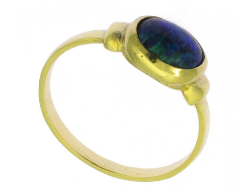 Zlatý prsten ze žlutého zlata G891