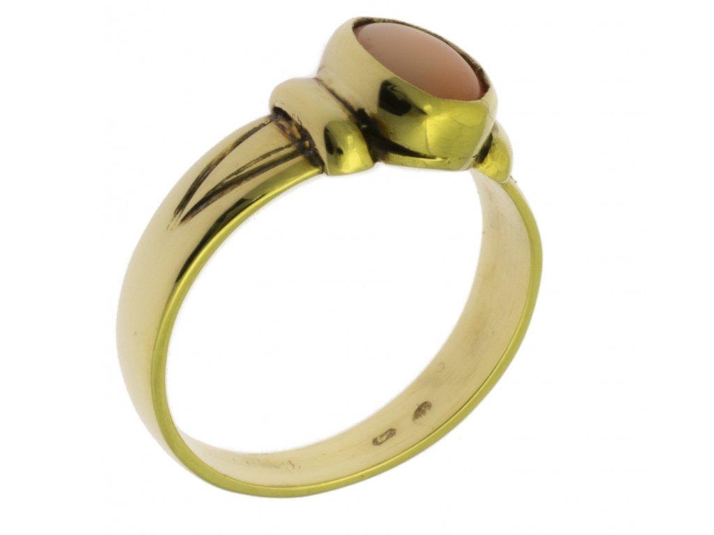 Zlatý prsten ze žlutého zlata G141