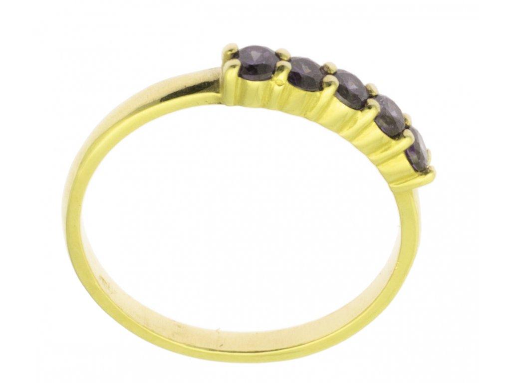 Zlatý prsten ze žlutého zlata G877