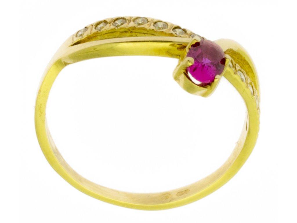 Zlatý prsten ze žlutého zlata G300