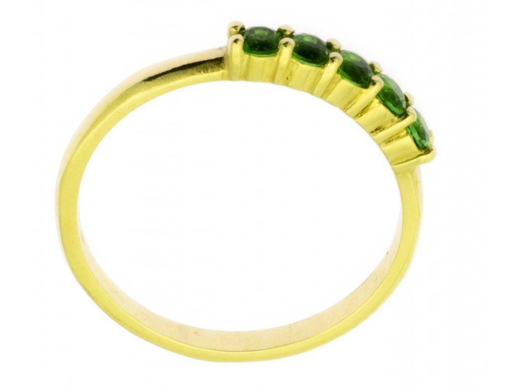 Zlatý prsten ze žlutého zlata G876