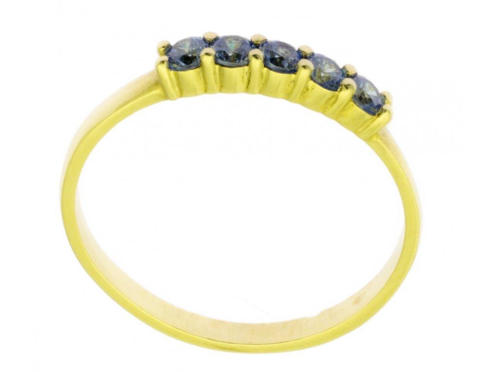 Zlatý prsten ze žlutého zlata G878