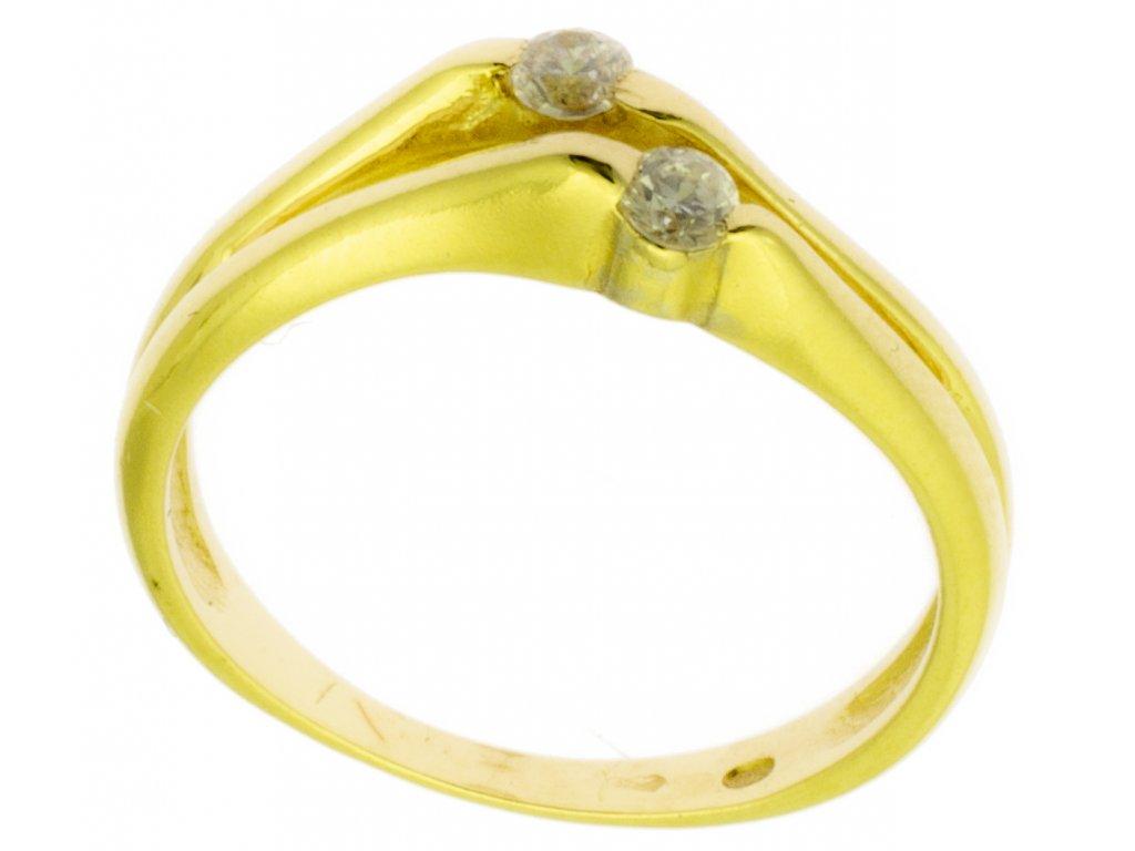 Zlatý prsten ze žlutého zlata G898