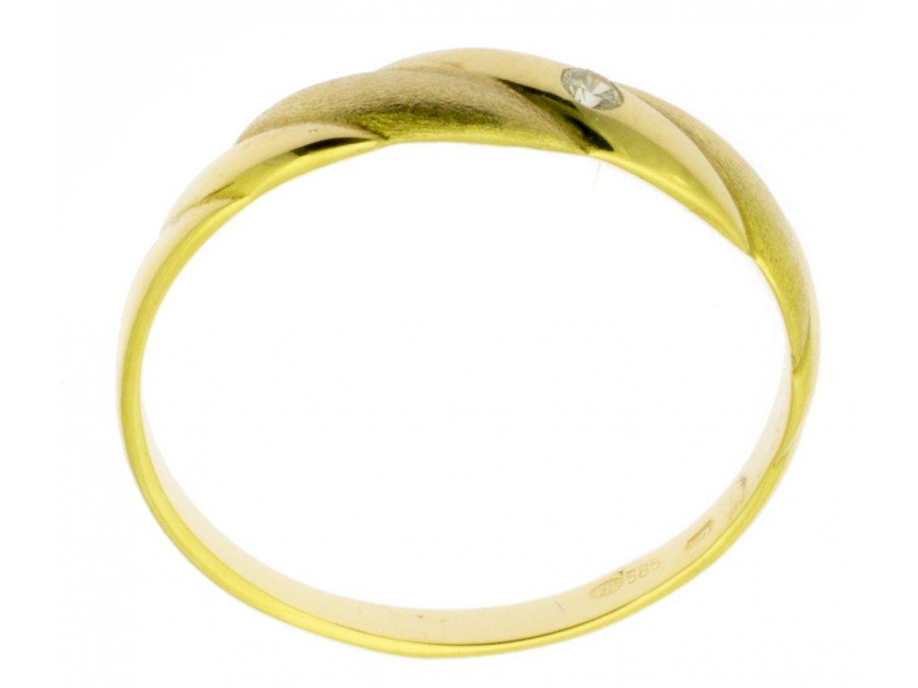 Zlatý prsten ze žlutého zlata G749