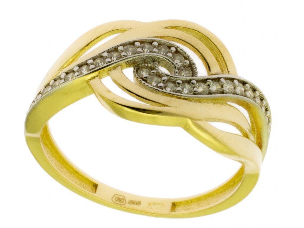 Zlatý prsten ze žlutého zlata G855