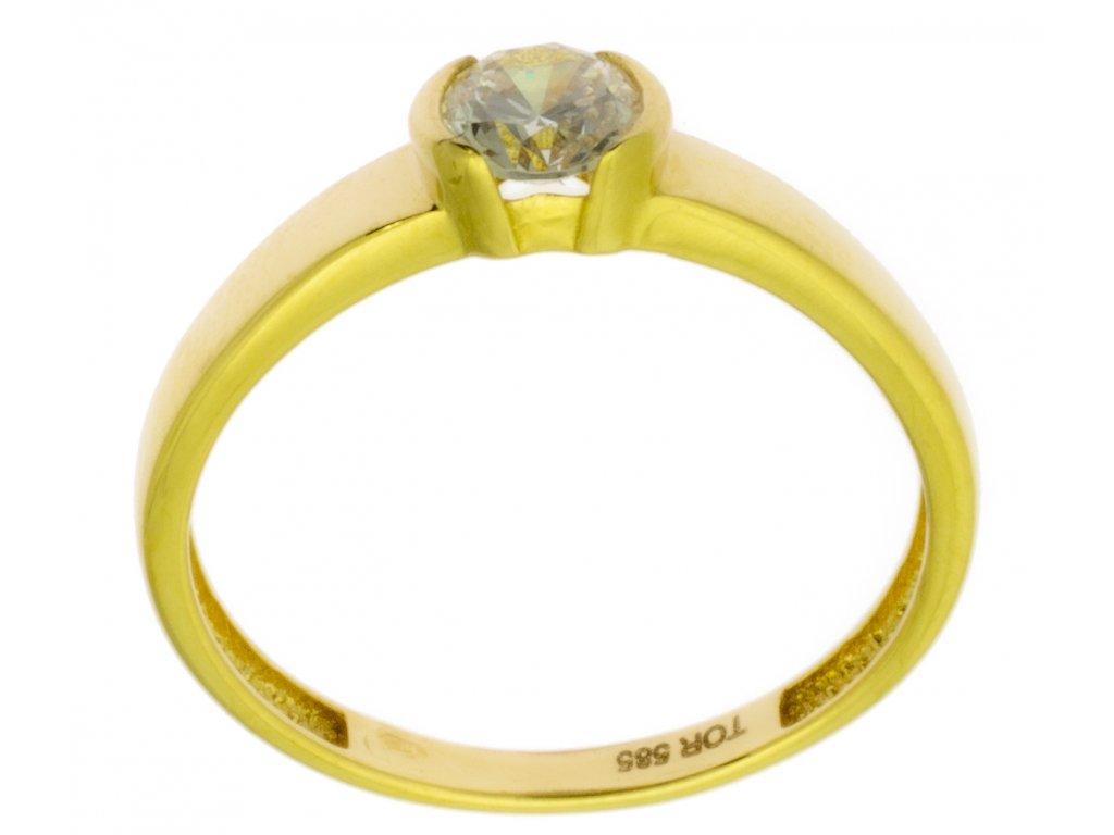 Zlatý prsten ze žlutého zlata G831