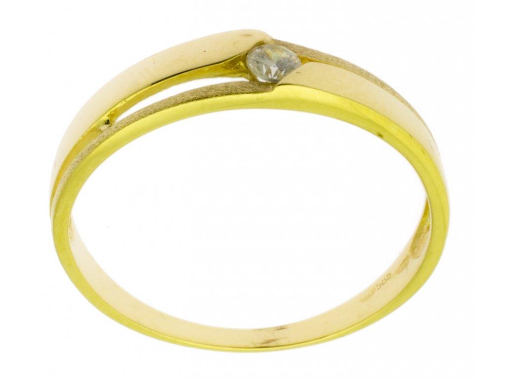 Zlatý prsten ze žlutého zlata G798