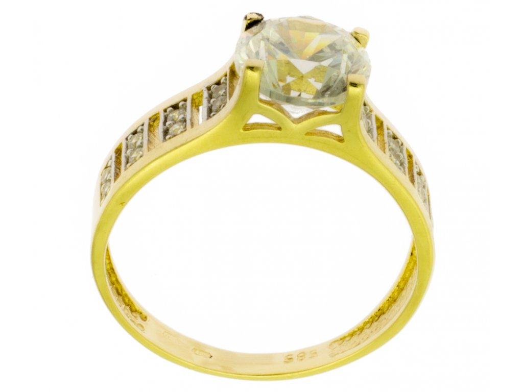 Zlatý prsten ze žlutého zlata G890