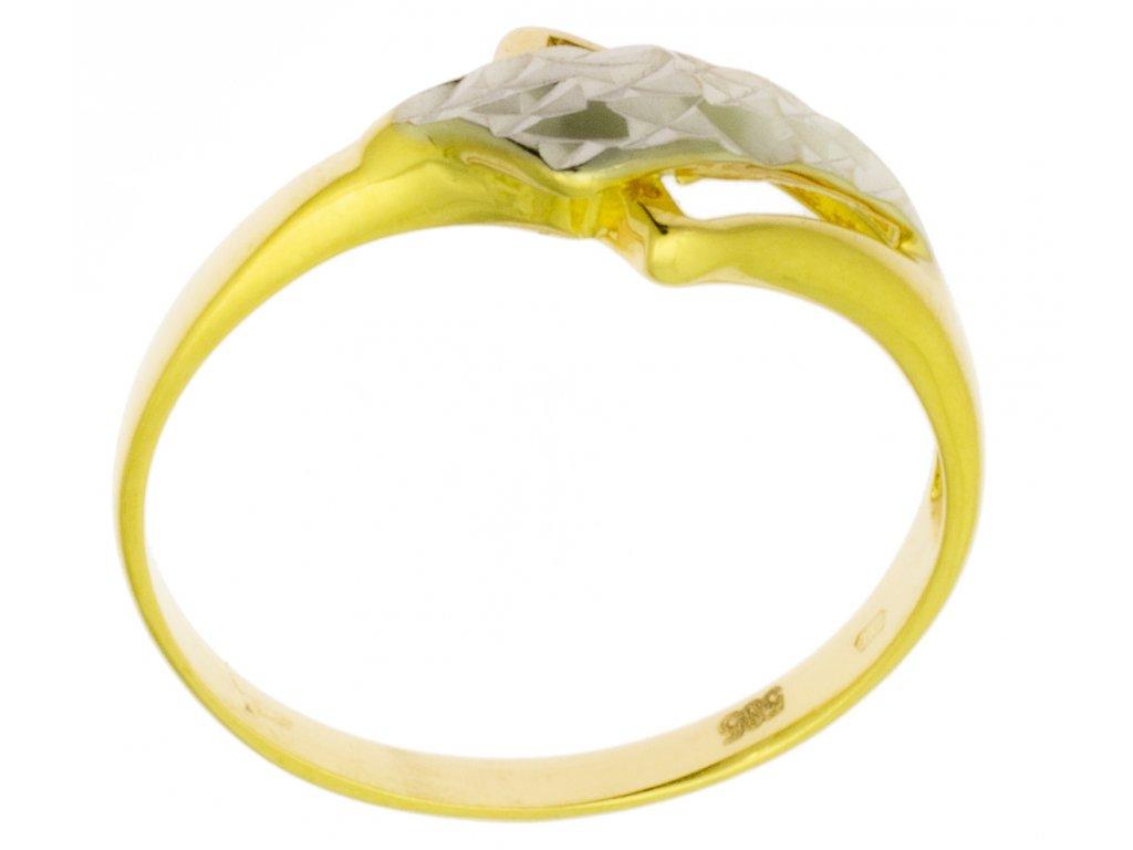 Zlatý prsten ze žlutého zlata G796