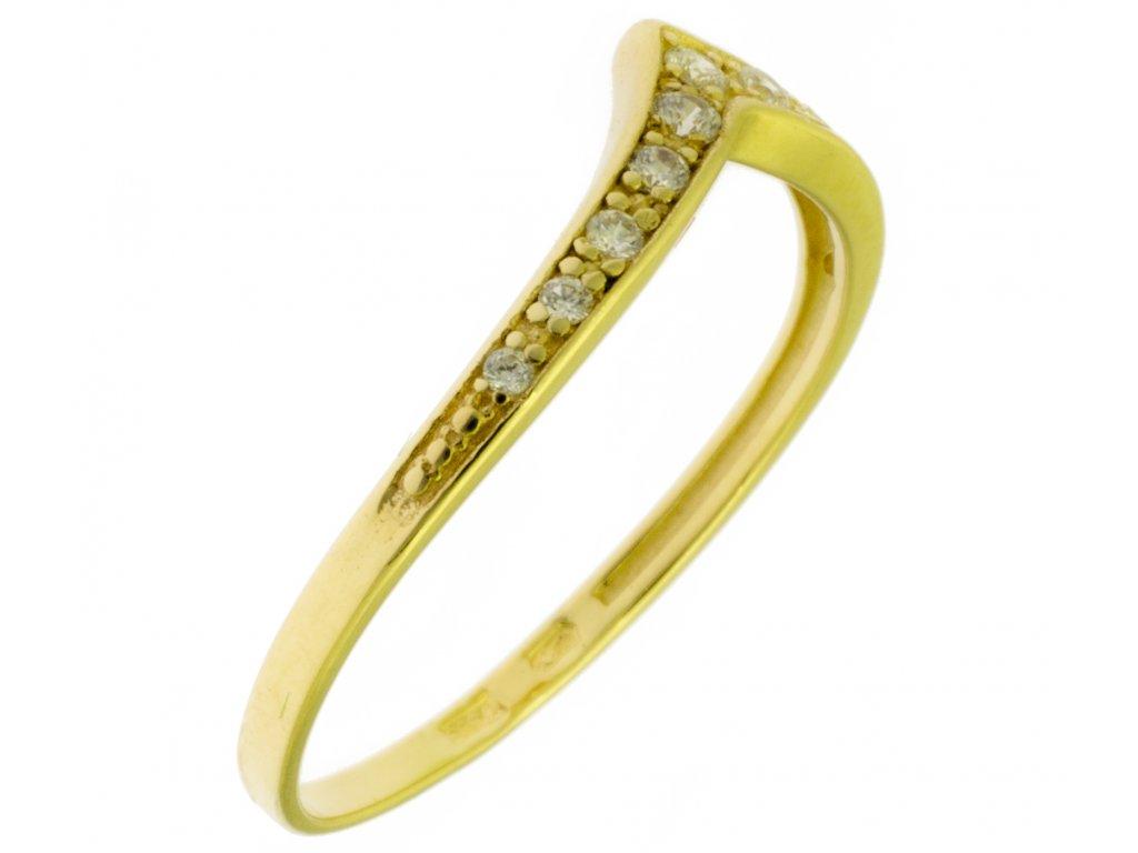 Zlatý prsten ze žlutého zlata G785
