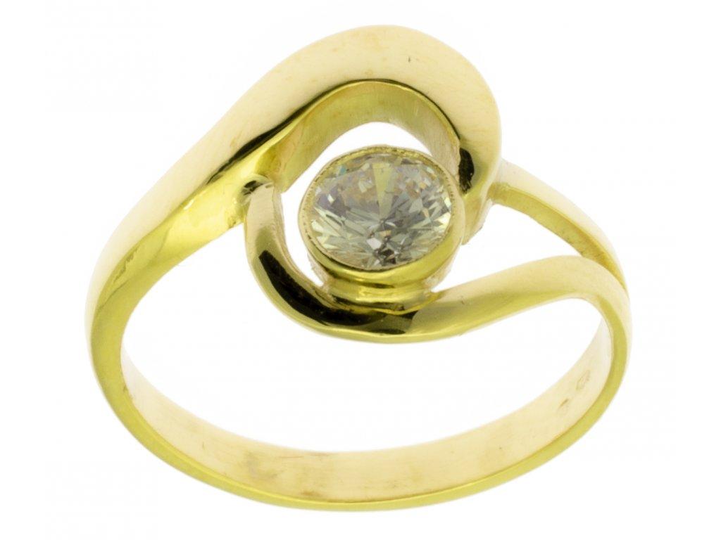 Zlatý prsten ze žlutého zlata G644