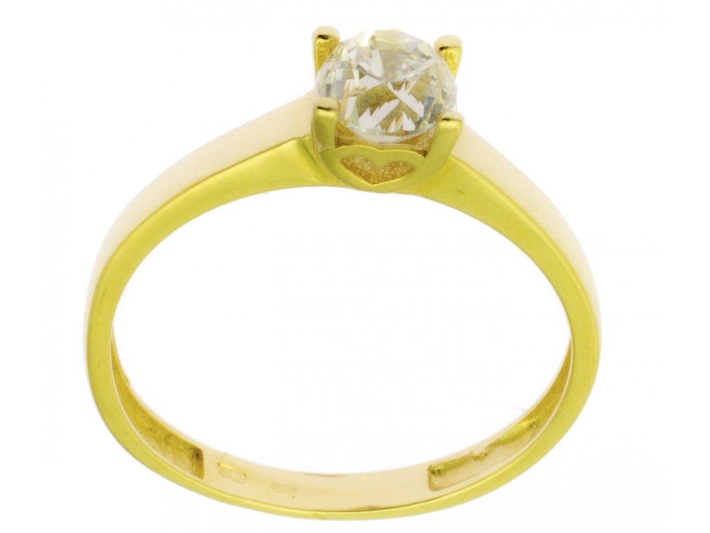Zlatý prsten ze žlutého zlata G850