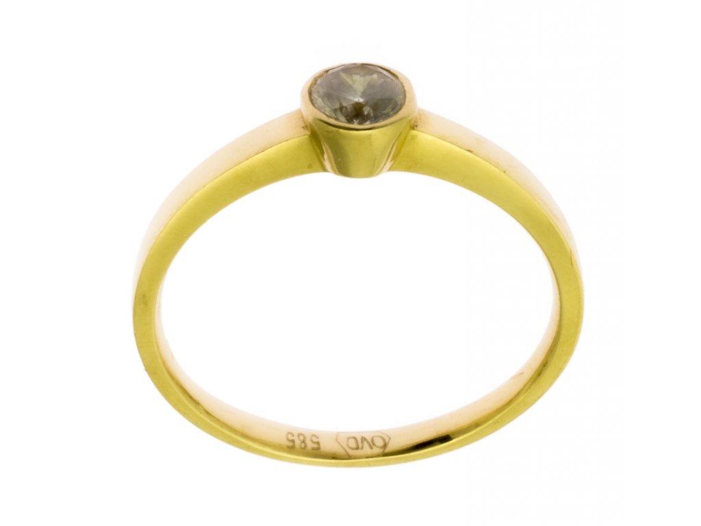 Zlatý prsten ze žlutého zlata G851