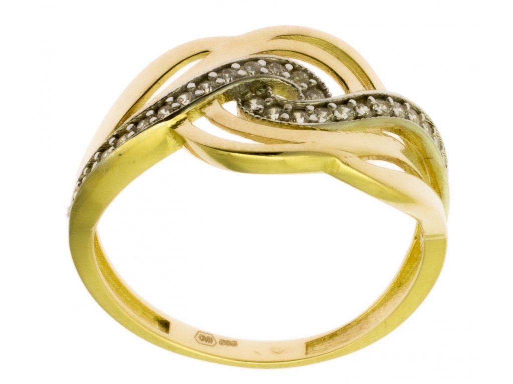 Zlatý prsten ze žlutého zlata G854