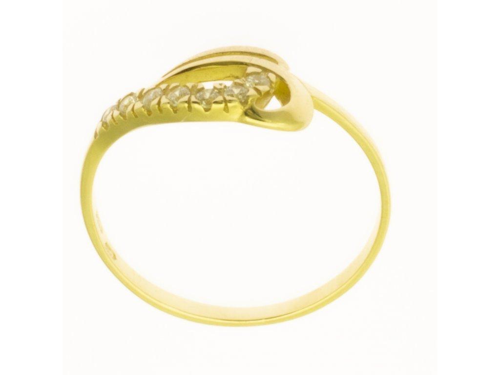 Zlatý prsten ze žlutého zlata G705