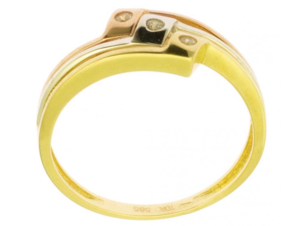 Zlatý prsten ze žlutého zlata G833