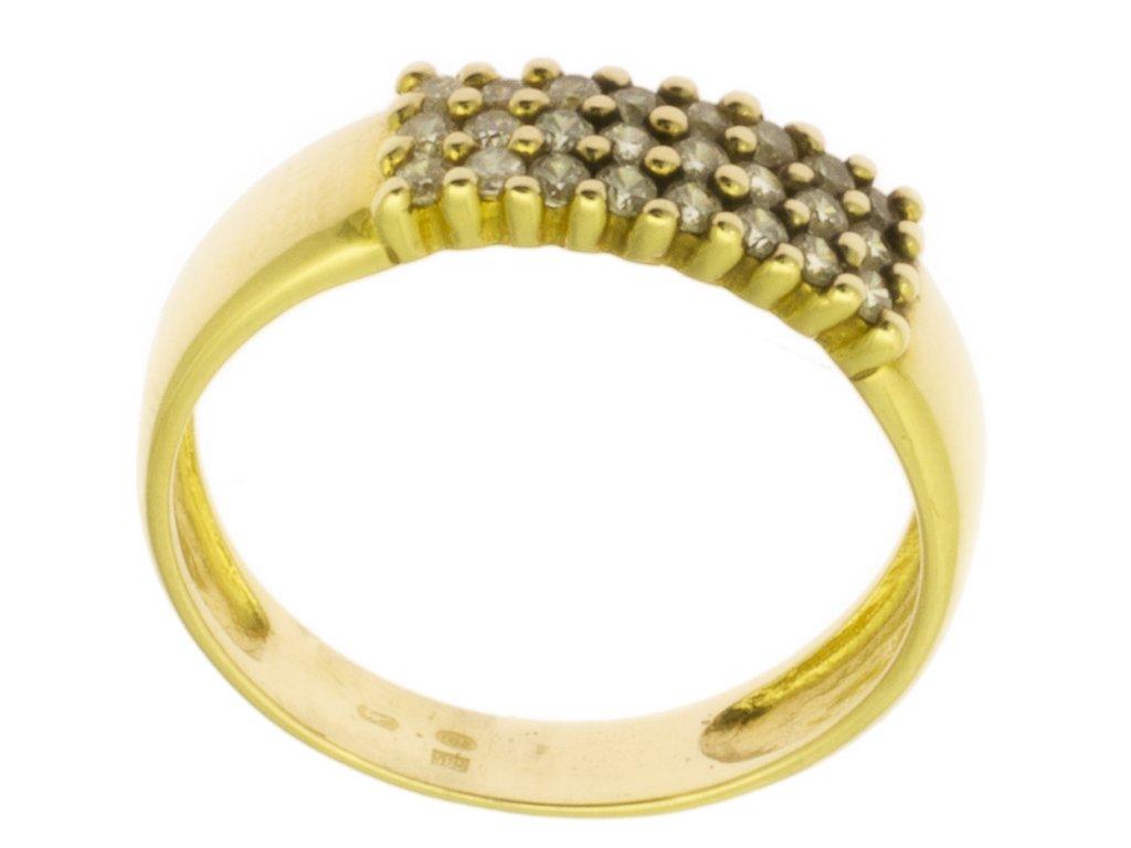 Zlatý prsten ze žlutého zlata G101