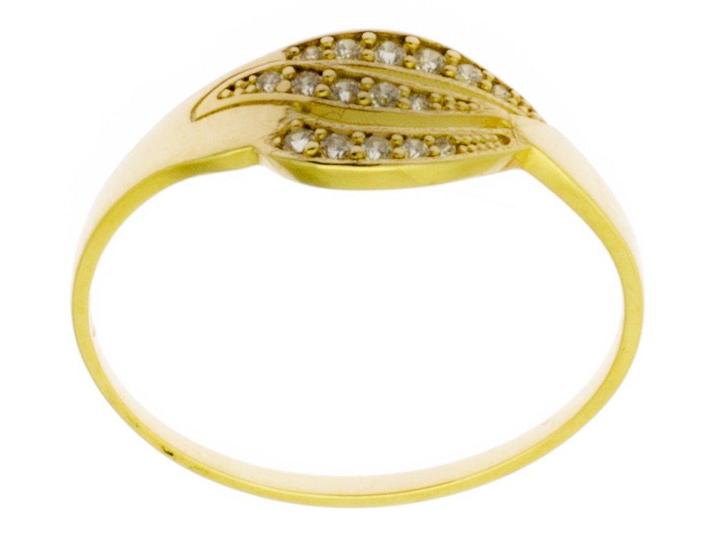 Zlatý prsten ze žlutého zlata G782