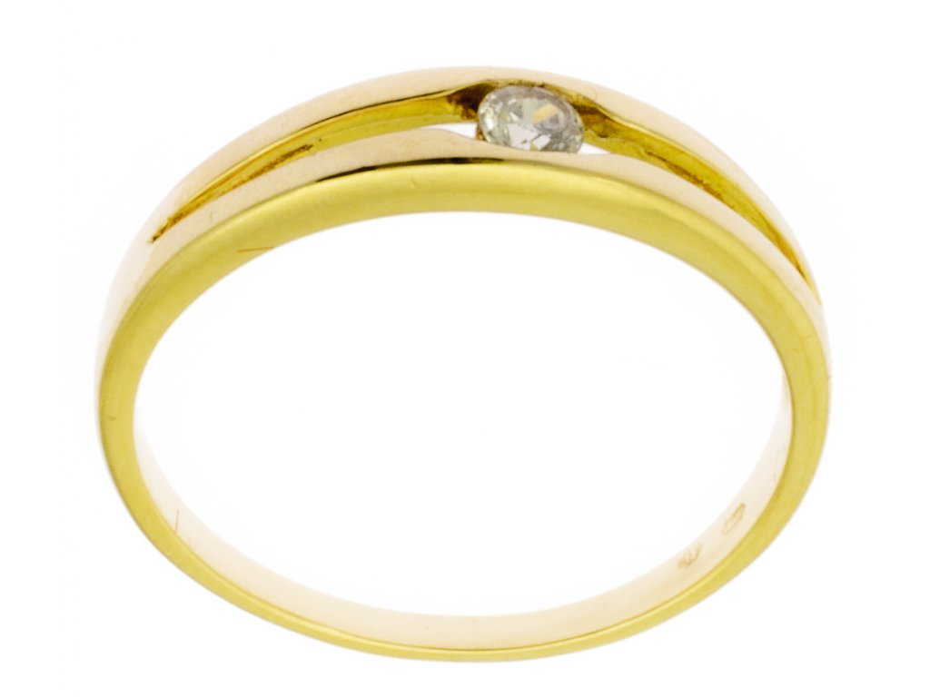 Zlatý prsten ze žlutého zlata G845