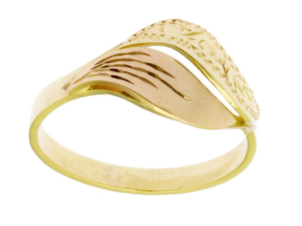Zlatý prsten ze žlutého zlata G367