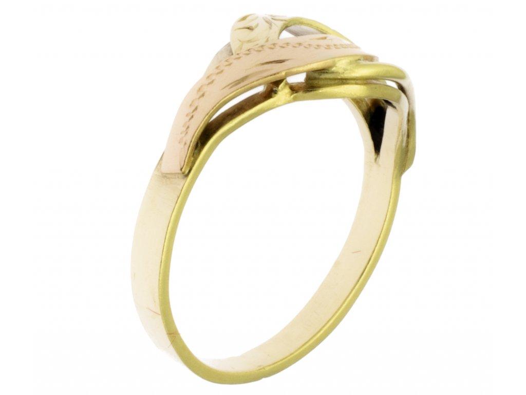 Zlatý prsten ze žlutého zlata G366