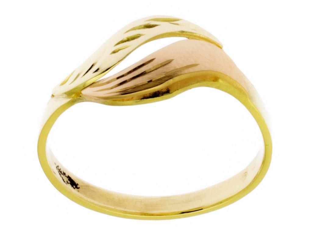Zlatý prsten ze žlutého zlata G808