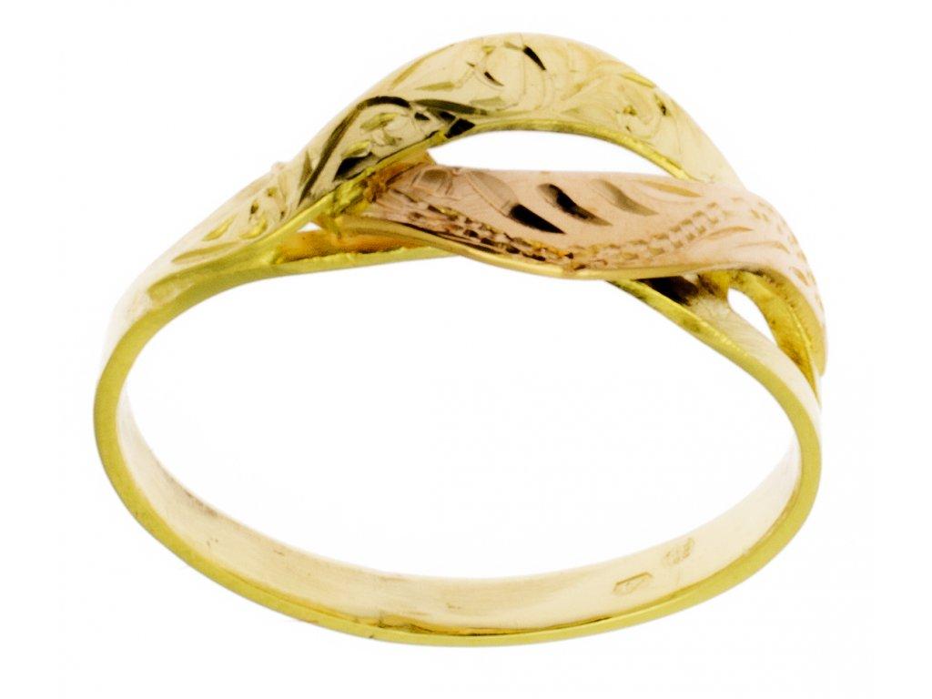 Zlatý prsten ze žlutého zlata G809