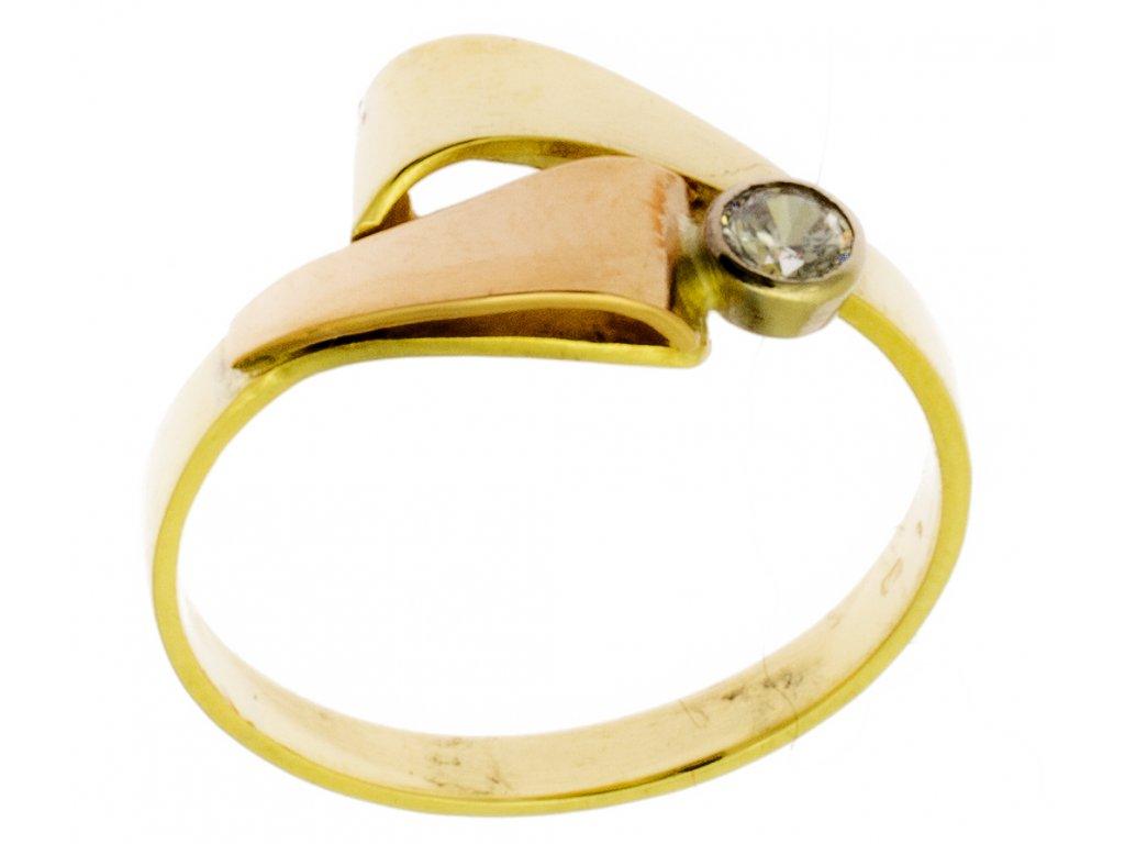 Zlatý prsten ze žlutého zlata G362