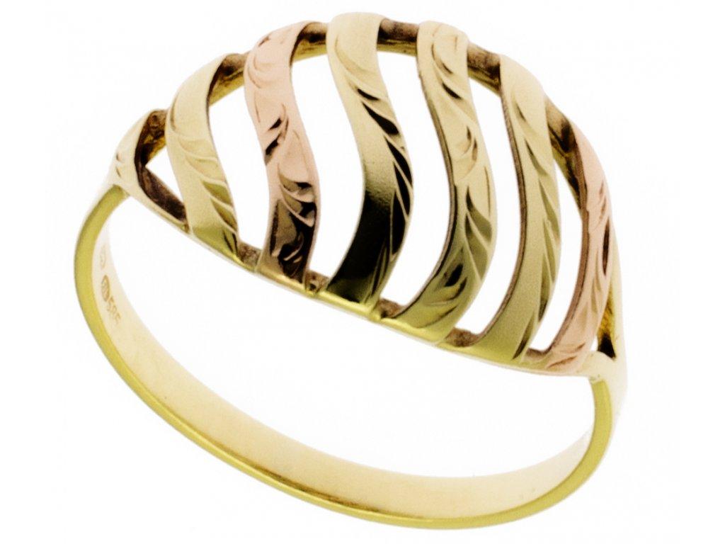 Zlatý prsten ze žlutého zlata G459