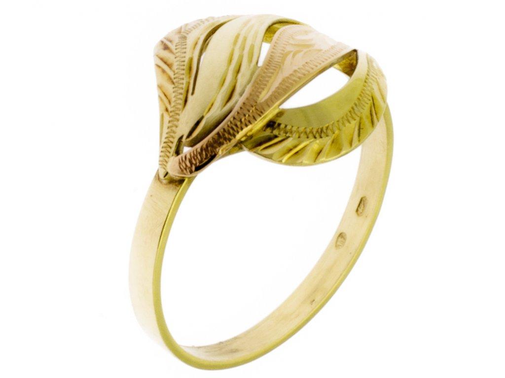 Zlatý prsten ze žlutého zlata G359