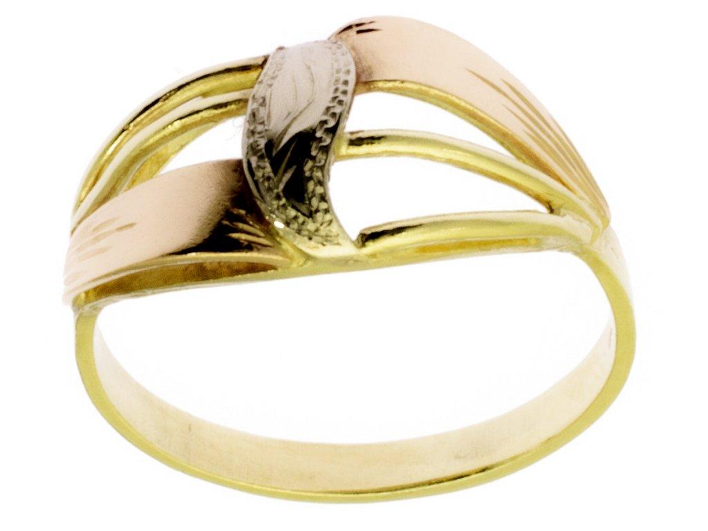 Zlatý prsten ze žlutého zlata G373