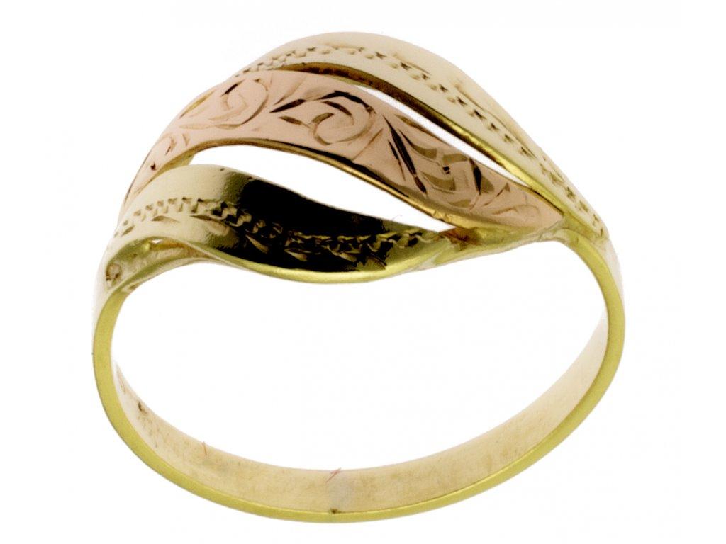 Zlatý prsten ze žlutého zlata G374