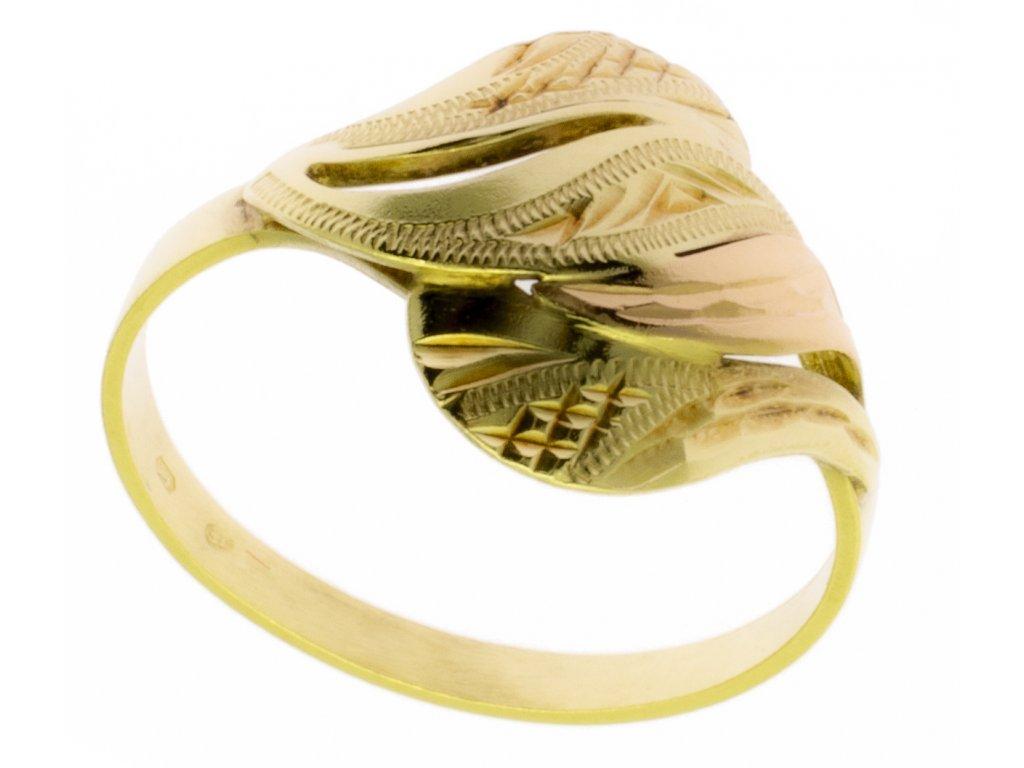 Zlatý prsten ze žlutého zlata G355