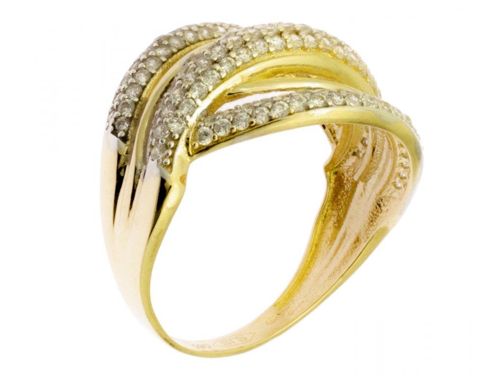 Zlatý prsten ze žlutého zlata G889