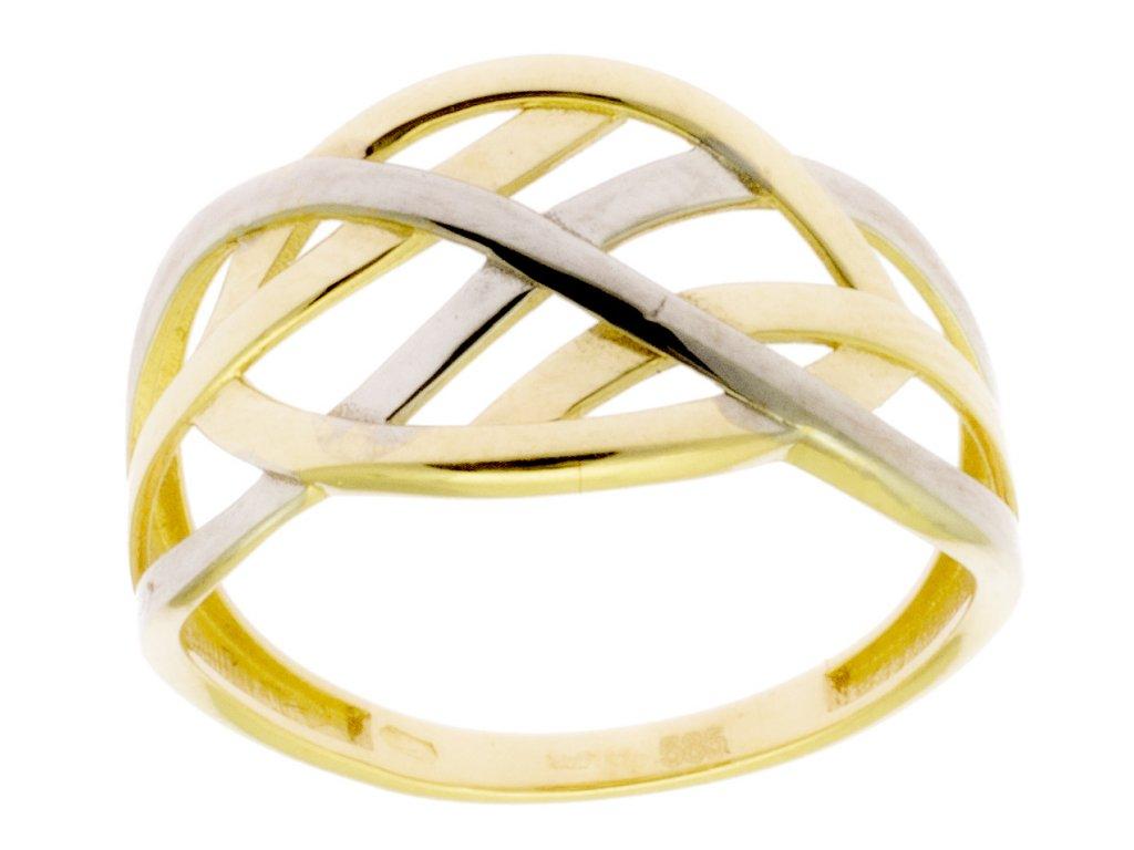 Zlatý prsten ze žlutého zlata G883