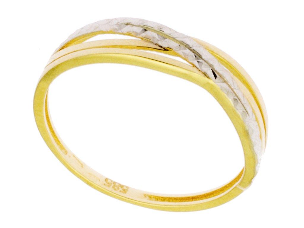 Zlatý prsten ze žlutého zlata G886