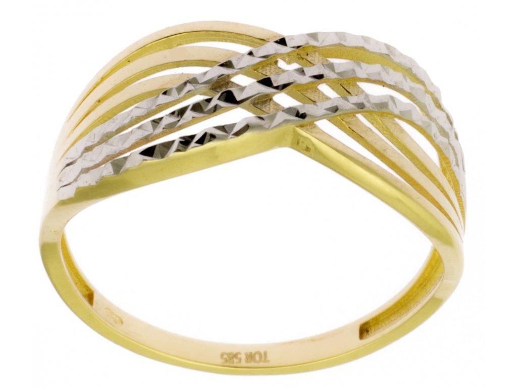 Zlatý prsten ze žlutého zlata G885
