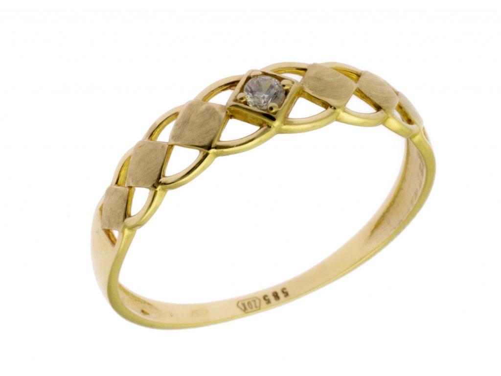 Zlatý prsten ze žlutého zlata G800a