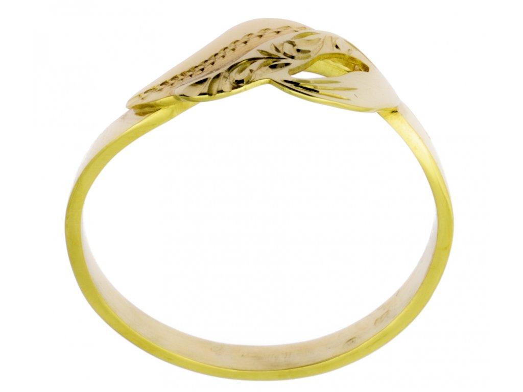 Zlatý prsten ze žlutého zlata G794