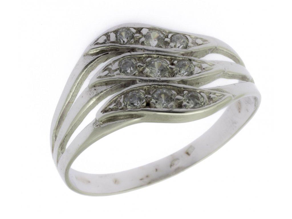 Prsten z bílého zlata G681