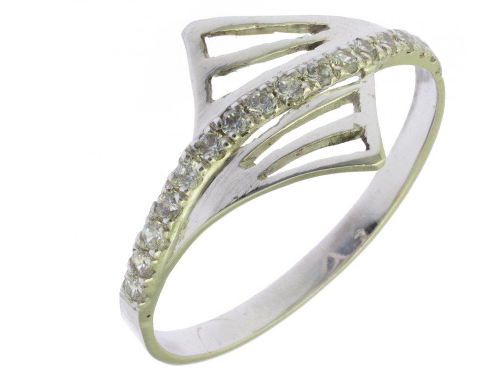 Prsten z bílého zlata G755