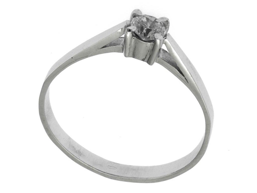Prsten z bílého zlata G768