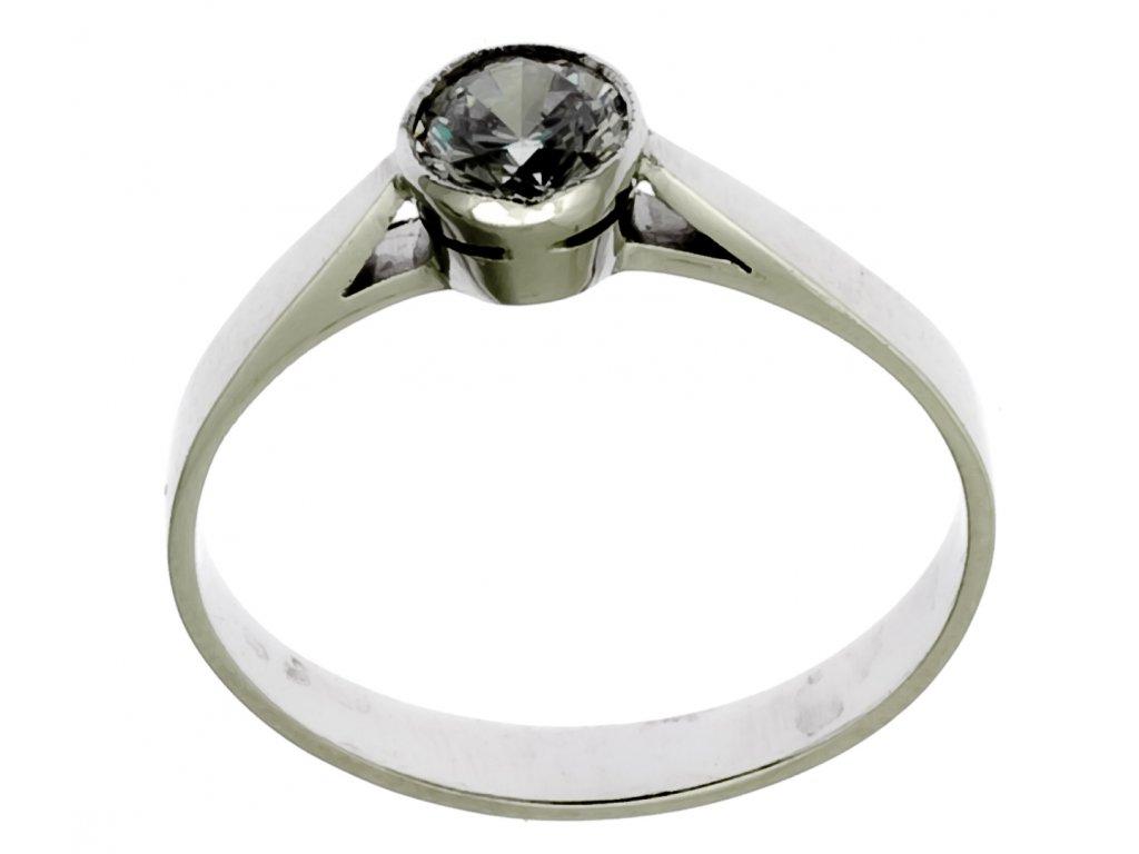 Prsten z bílého zlata G763
