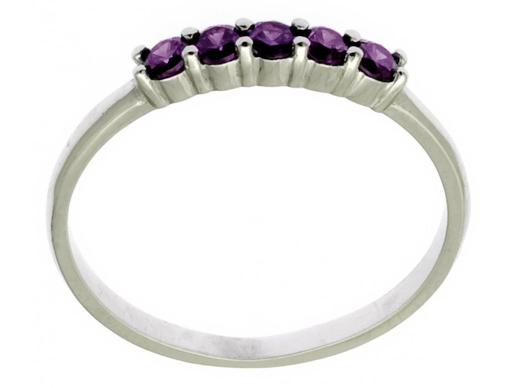 Prsten z bílého zlata G874