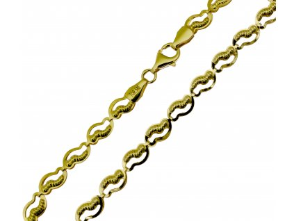 Náramek ze žlutého zlata D466