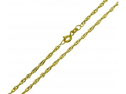 Zlatý řetízek K175