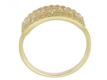 Zlatý prsten ze žlutého zlata G909