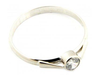 Prsten z bílého zlata  G049