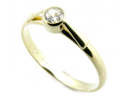 Prsten ze žlutého zlata G032