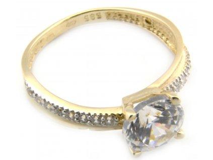 Prsten ze žlutého zlata  G063